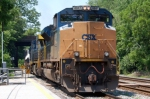 Q438-06 powered with CSXT 4841(SD70ACe), CSXT 669(AC60CW) & CSXT 6141(GP40-2) Built As B&O 4242(GP40-2) 